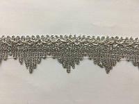 Тесьма парчевая 4,2см №O/1355/S серебро