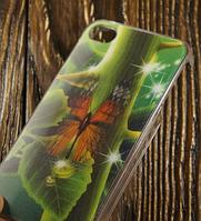 """Пластиковый 3D Чехол """"Butterfly"""" для Apple iPhone 4/4S Чехол-Накладка на мобильный телефон"""