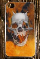 """Пластиковый 3D Чехол """"Skull fire"""" для Apple iPhone 4/4S Чехол-Накладка на мобильный телефон"""
