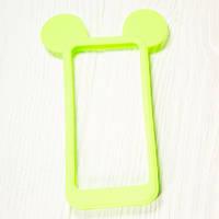 """Силиконовый бампер """"Бампер силикон Мики салатовый"""" для Apple iPhone 4/4S Чехол-Накладка на мобильный телефон"""