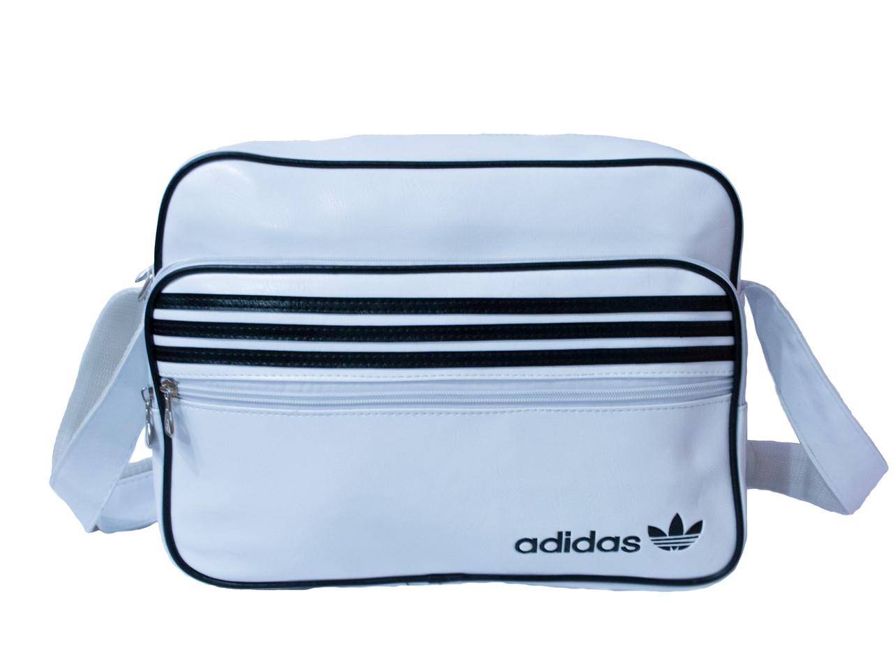 f6641f3b8dcb Сумка на плечо Adidas 2063 Белый Три полосы (36x28x9 см) купить оптом в  Украине