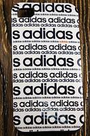 """Силиконовый Чехол """"Adidas white"""" для Apple iPhone 4/4S Чехол-Накладка на мобильный телефон"""