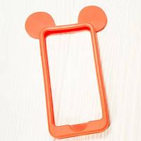 """Силиконовый бампер """"Бампер силикон Мики красный"""" для Apple iPhone 4/4S Чехол-Накладка на мобильный телефон"""