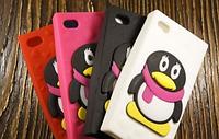 """Силиконовый Чехол """"Pinguin 2"""" для Apple iPhone 4/4S Чехол-Накладка на мобильный телефон"""