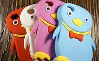 """Силиконовый Чехол """"Pinguin"""" для Apple iPhone 4/4S Чехол-Накладка на мобильный телефон"""