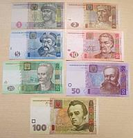 Набор банкнот Украины выпуска 2003-05 гг. От 1до 100 грн ПРЕСС, фото 1