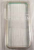"Пластиковый бампер ""More Color Jem Gold"" для Apple iPhone 5/5S Чехол для айфона"