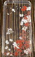 "Пластиковый Чехол ""Flowers four plastic"" для Apple iPhone 5/5S Чехол для айфона"