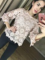 МЕГА красивые блузки и з кружева (пудра, белая, красная)