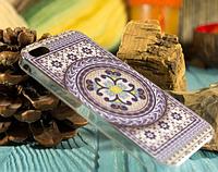 """Пластиковый Чехол """"""""С узорами violet"""" для Apple iPhone 5/5S Чехол-Накладка на мобильный телефон"""