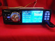 Автомагнитола Pioneer 3612 1DIN, LCD, DivX, USB, SD, MP3, MP4