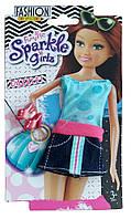 Набор одежды для куклы: летнее платье и туфельки