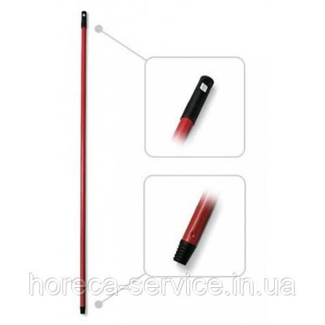 Металлическая рукоятка screw 21х140 см. Standart красная, фото 2