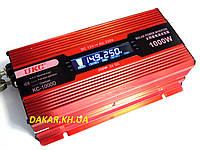 Преобразователь напряжения 12V в 220V 1000W UKC KC 1000D с LCD дисплеем инвертор 12В-220В 1000Вт