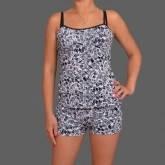 Пижама женская комплект домашней одежды майка и шортики Украина