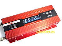 Преобразователь напряжения 12V в 220V 2000W UKC KC 2000D с LCD дисплеем инвертор 12В-220В 2000Вт