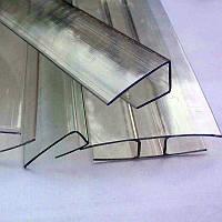 Торцевой профиль для поликарбоната П-образный, 8 мм