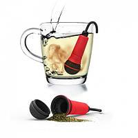 Силиконовый заварник для чая Spo-tea-fy Rocket Design (красный)