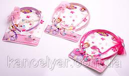 Набор подарочный детский: обруч, заколки для волос - 2 шт., бусы, браслет, в ассортименте