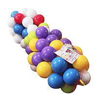Шарики ( Кульки) игровые для палаток, сухих бассейнов в тубусе 100 шт, диаметр 8см, мягкие, Украина 02-419