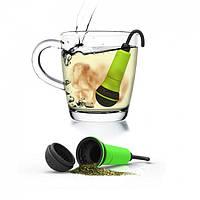 Силиконовый заварник для чая Spo-tea-fy Rocket Design (зеленый)