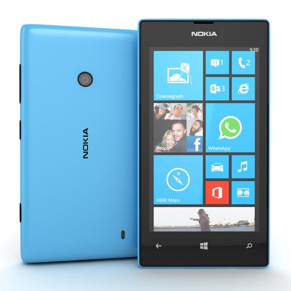 Смартфон Microsoft Lumia 520 Blue 0,5/8gb 1430 мАч Snapdragon S4