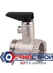 Предохранительный клапан для водонагревателя Ду 15, Н/В резьба.