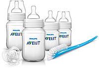 Набор для кормления новорожденных (4 бутылочки), Avent