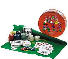Покерный набор Poker Chips 120 фишек, настольная игра покер купить