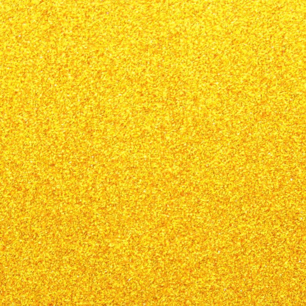 Фоамиран на клеевой основе с глиттером 2 мм, 20x30 см, Китай, ЗОЛОТОЙ