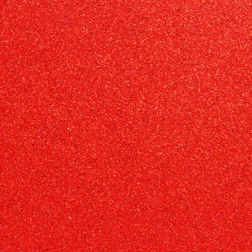 Фоамиран на клеевой основе с глиттером 2 мм, 20x30 см, Китай, КРАСНЫЙ
