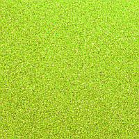 Фоамиран на клеевой основе с глиттером 2 мм, 20x30 см, Китай, САЛАТОВЫЙ