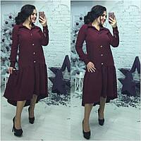Женское платье рубашка на большой размер