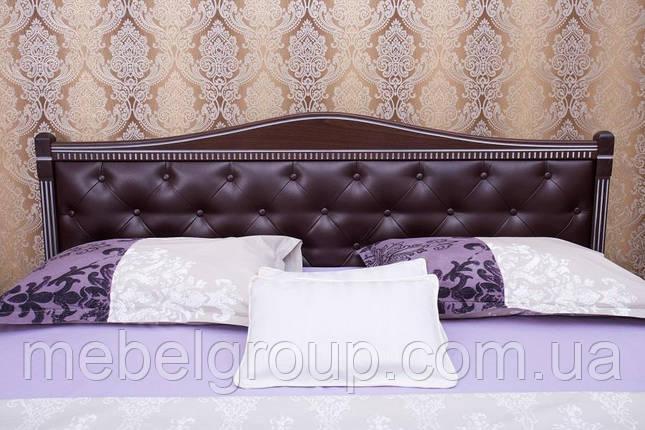 """Ліжко полуторне Олімп """"Прованс кожзам ромби + патина"""" (140*200), фото 2"""