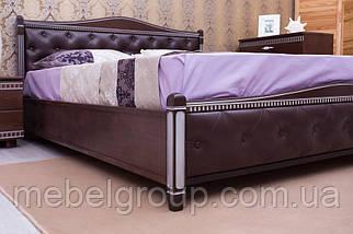 """Ліжко двоспальне Олімп """"Прованс кожзам ромби + патина+механізмом"""" (180*200), фото 3"""