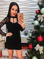 Красивое вечернее черное платье