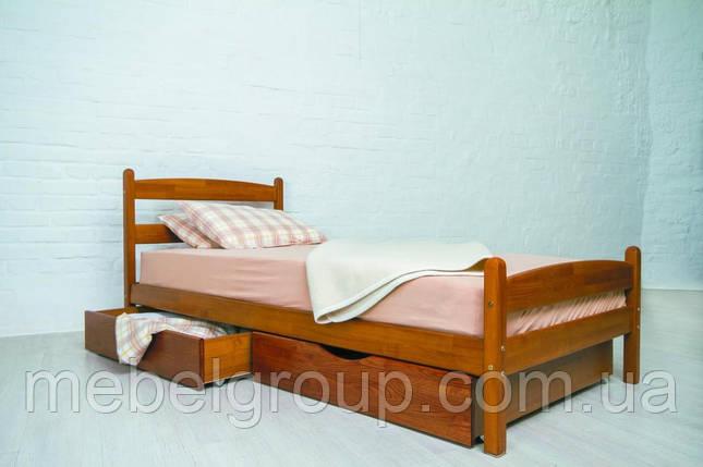 """Ліжко односпальне Олімп """"Ліка з ящиками"""" (90*200), фото 2"""