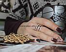 Кольцо серебро с золотом Бьянка, фото 5
