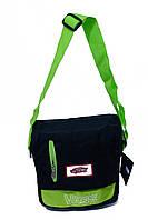 Молодежная сумка через плечо VANS 6011 Черная (27х22х8 см) купить оптом по низкой цене, фото 1