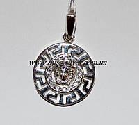 Кулон Версаче серебро