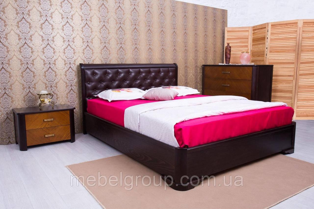 """Ліжко двоспальне Олімп """"Мілена м'яка спинка ромби+механізмом"""" 180*190"""