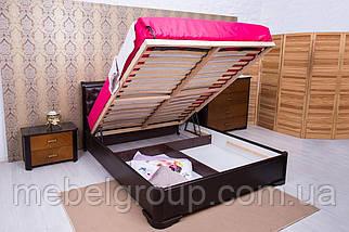 """Ліжко двоспальне Олімп """"Мілена м'яка спинка ромби+механізмом"""" 180*190, фото 2"""