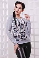 Женский светло-серый свитшот Rosie ТМ  FashionUp 42-48 размеры