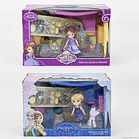 Кукла принцесса София ZT 8790/91 игровой набор Frozen с мебелью, посудой и фигурками