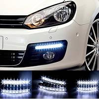 Универсальные светодиодные дневные ходовые огни DRL DR2-030, 8 LED, 12 V