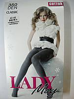 """Хлопковые колготки """"Lady May"""" женские 350 ден """"Classic"""" коричневого цвета, фото 1"""