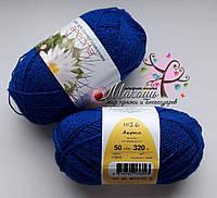 Пряжа Акрил с люрексом №16 Ареола, василек\синий