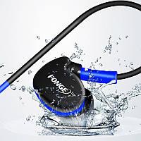 ✓Гарнитура FONGE S500 Синяя вакуумная для занятий спортом с креплением за ухом