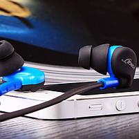 ✓Гарнитура FONGE S500 Синяя вакуумная для занятий спортом с креплением за ухом, фото 5