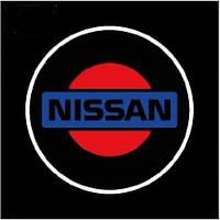 Дверной логотип LED LOGO 070 NISSAN , Светодиодная подсветка на двери с логотипом